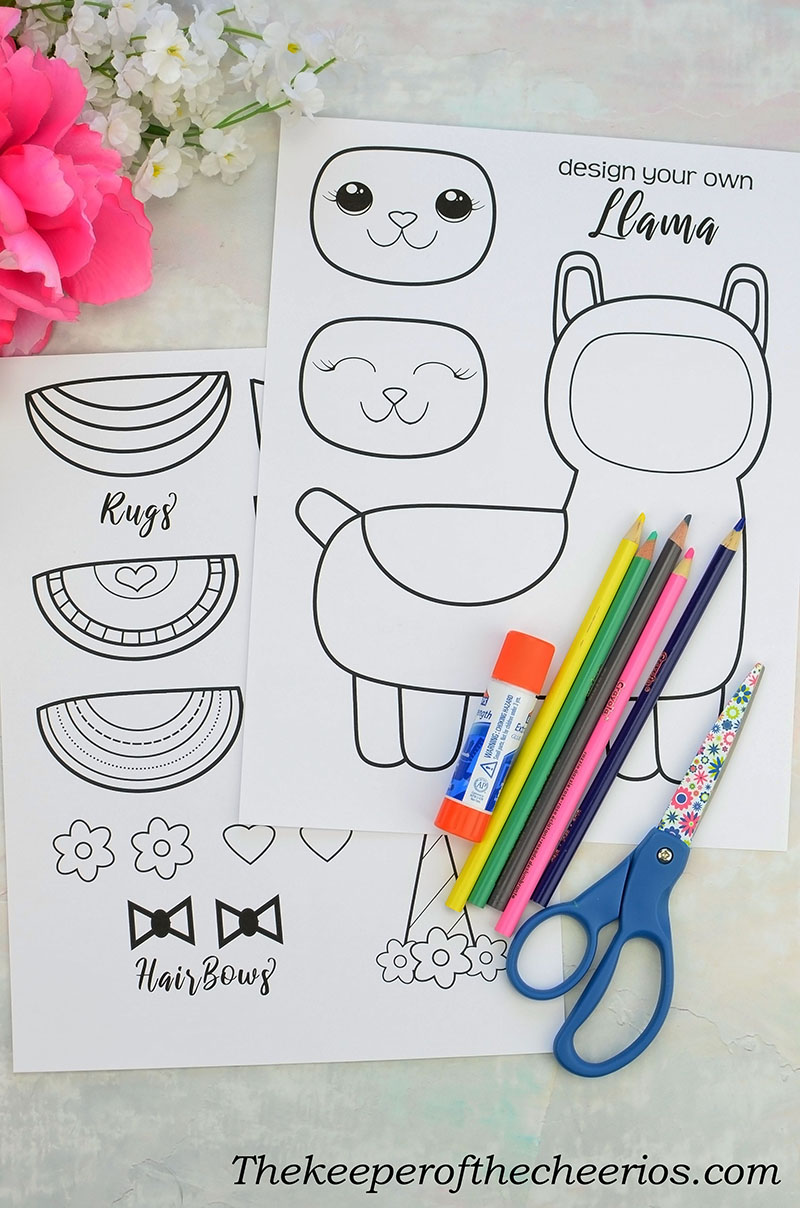 Shoes Keeper: Design Your Own Llama Craft