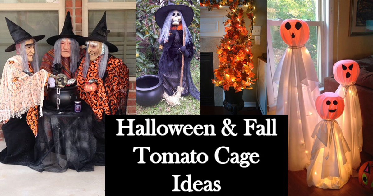Halloween And Fall Tomato Cage Decorations The Keeper Of