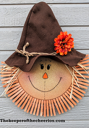 Scarecrow Pizza Pan Clothespin Wreath The Keeper Of The