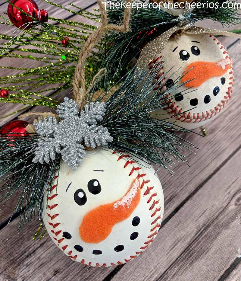 snowman-baseball-ornament