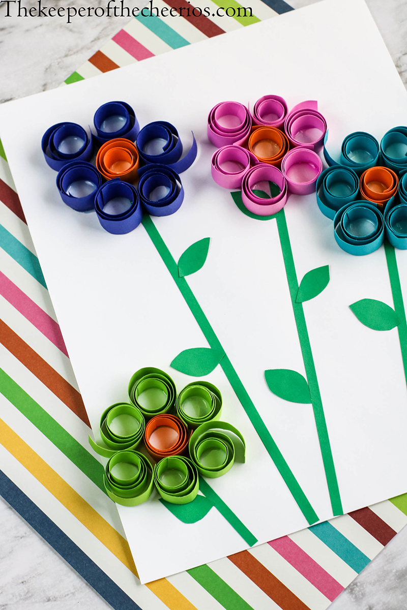 Spring-Flowers-Curled-paper-10