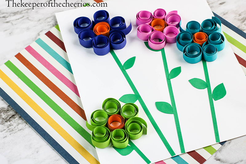Spring-Flowers-Curled-paper-11