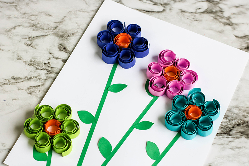 Spring-Flowers-Curled-paper-8