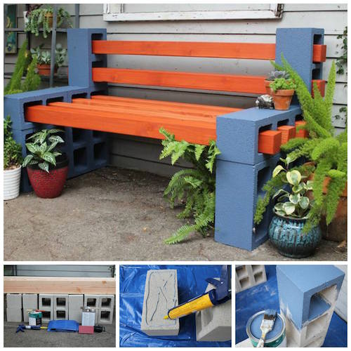 cinder-block-bench