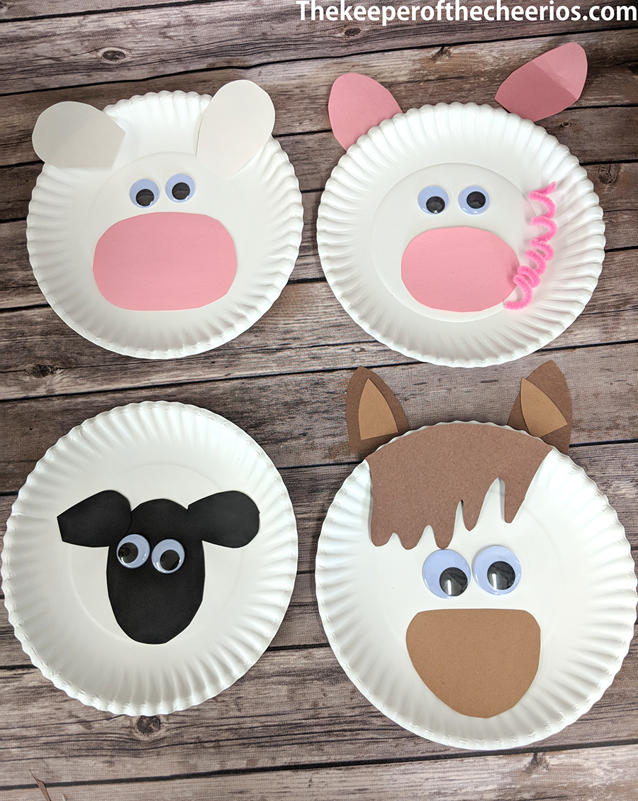 Paper Plate Farm Animals The Keeper Of The Cheerios