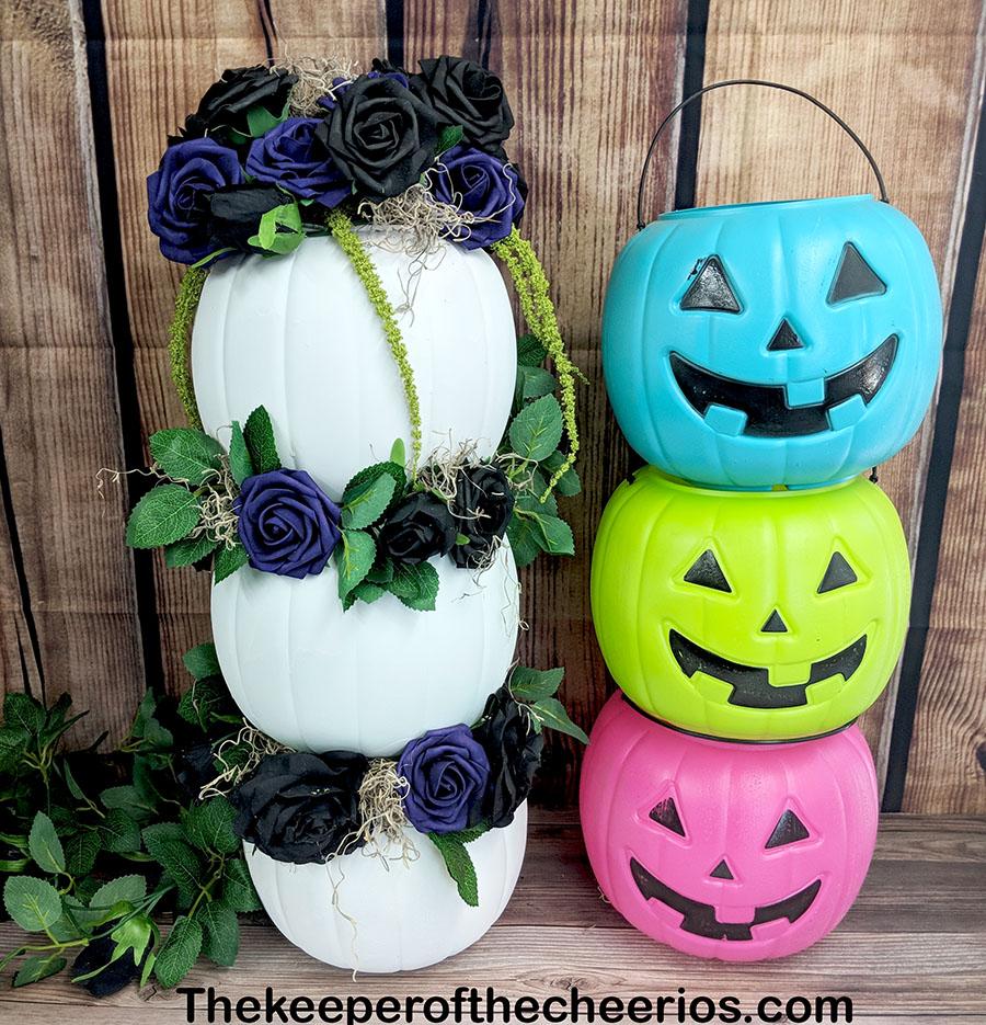 stacked-plastic-pumpkin-centerpiece-7