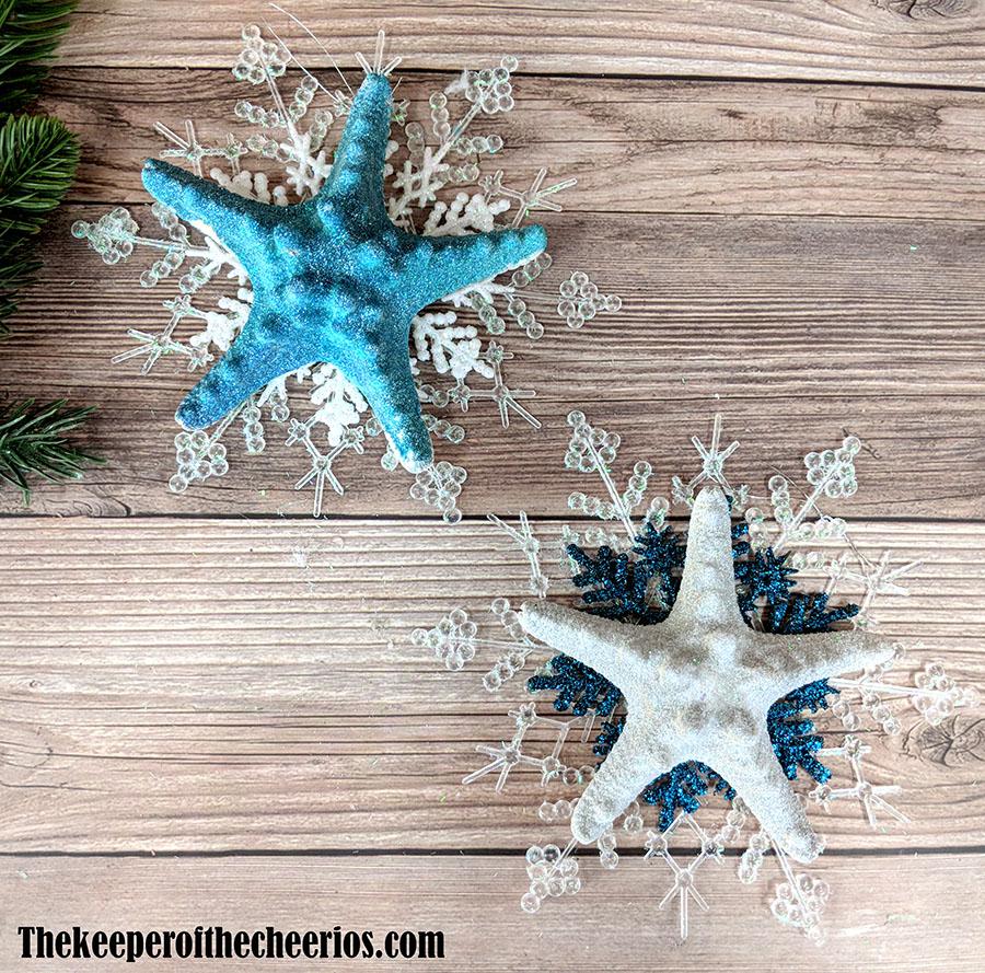 snowflake-starfish-ornaments