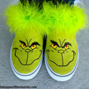 DIY Grinch Shoes