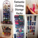 FANTASTIC CLOTHING STORAGE HACKS