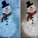 Dollar Store Snowflake Snowman